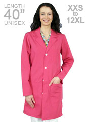 XL-1013-Unisex Pink Colored 40 inch Long Lab Coats
