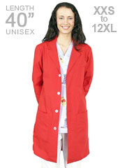 XL-1014-Unisex Red Colored 40 inch Long Lab Coat