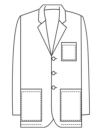 XL-1017-Made To Order Men's 32 Inch Button Front Consultation Lab Coat