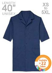 XL-1018-40 inch Short Sleeves Assorted Colors Unisex Tall Lab Coats