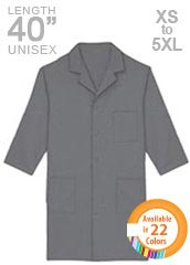 XL-1019-40 inch Three Quarter Sleeves Assorted Colors Unisex Long Medical Lab Coats