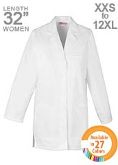XL-1023-Snap Front Unisex Short Colored Lab Coats