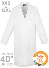 XL-1024-Snap Front Long Colored Unisex Medical Lab Coat