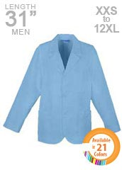 XL-1028-31 inch Multiple Pockets Assorted Colors Men Consultation Coats