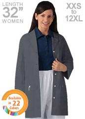 XL-1029-Snap Front Multiple Pockets Women Color Lab Coats