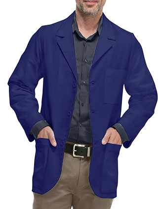 XL-1034-Three Pockets Twill Fabric Colored 31 inch Men Consultation Lab Coat