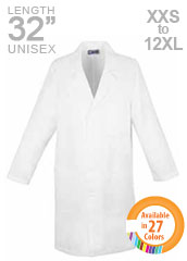 XL-1035-Snap Front 32 inch Unisex Colored Short Lab Coat