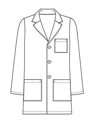 XL-1042-Made To Order Men's 31 Inch Button Front Consultation Lab Coat