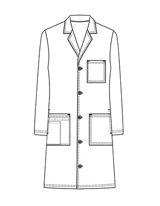 XL-1045-Made To Order Unisex 40 Inch Button Closure Medical Long Lab Coat
