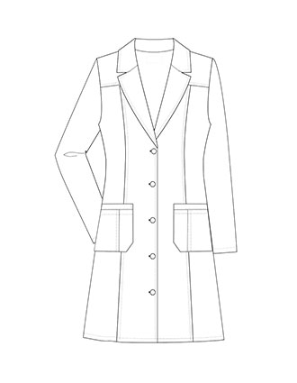 XL-1060-Made To Order Women's 36 Inch Two Pocket Fashion Long Lab Coat
