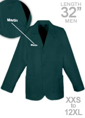 XL-1389P-Free Embroidery 32 Inch Premium Men Colored Consultation Lab Coat