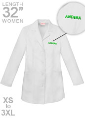 XL-2300F-Free Embroidery 32 inch Two Pockets Womens Medical Lab Coat