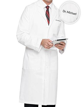 755de62dd1f XL-3138F-Free Embroidery Landau 45 Inch Men's Three Pockets Medical Lab Coat