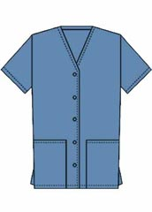 XL-4034-Unisex Two Patch Pockets Five Button Front Nurse Scrub Top