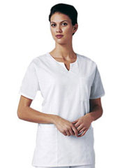 XL-4038-Women Split Neck Three Pockets Nurse Scrub Top