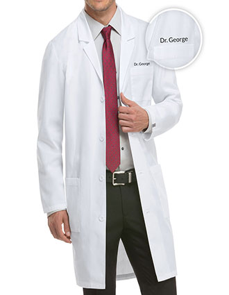 XL-83403F-Free Embroidery Dickies EDS 40 Inch Unisex Three Pocket Long Lab Coats