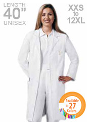 XL-1026-Snap Front Three Quarter Sleeves Unisex Long Lab Coat