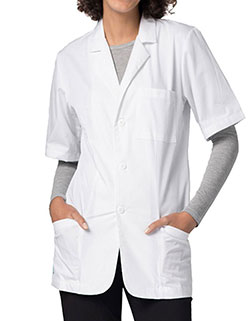 Adar Universal 31 Inch Unisex Consultation Short Sleeves Coat