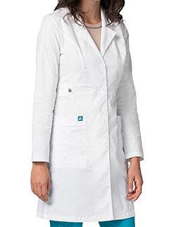 Adar Pop-Stretch 36 Inch Women's Tab-Waist Lab Coat