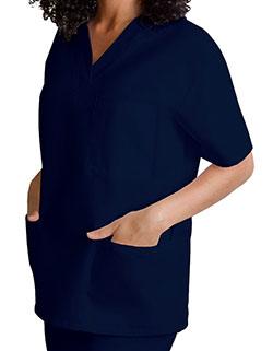 Adar 28.5 Inch Unisex V-Neck Nursing Scrub Top