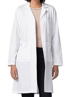 Adar 40 Inch Unisex Midriff Back White Laboratory Coat