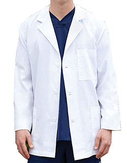 Barco 31 Inch Unisex Three Pockets Short Lab Coat