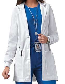 Cherokee Women's 30 inch Rib Knit Cuff Medical Lab Coat