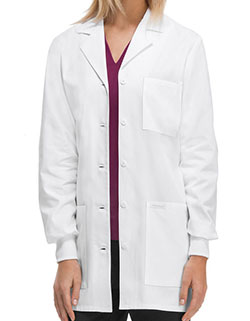 Cherokee 32 Inch Women's Rib Knit Cuff Short Laboratory Coat