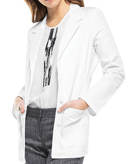 Cherokee 28 Inch Womens Fitted Blazer-Style Lab Coat