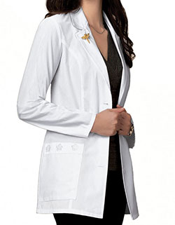 Cherokee 29.5 inch Daisy Embroidery Women Short Medical Lab Coat