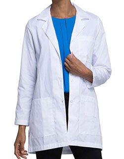 Cherokee 32 Inch Women's Multiple Pockets White Lab Coat