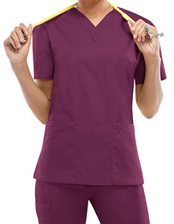 Dickies EDS 27 Inch Women's V-Neck Scrub Top