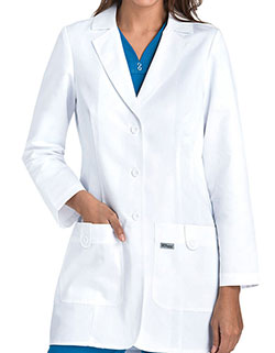 Grey's Anatomy 32 inch Women's Twill White Medical Lab Coat