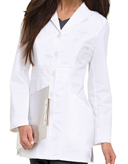 Landau 31.5 Inch Women's Smart Stretch Signature White Nursing Lab Coat