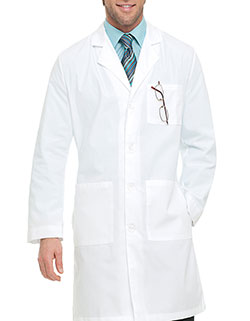 Landau 39.5 Inch Men's Three Pockets White Medical Lab Coat