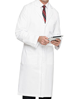 Landau 45 Inch Men's Three Pockets Medical Lab Coat