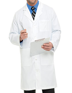 Landau 40.5 Inch Men's Twill Knee Length Long Medical Lab Coat