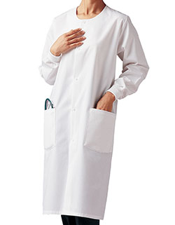 Landau 41 Inch Unisex Two Pockets Cover White Medical Lab Coat