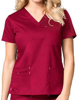 Maevn 26.5 Inch Blossom Women's V-Neck Fashion Scrub Top
