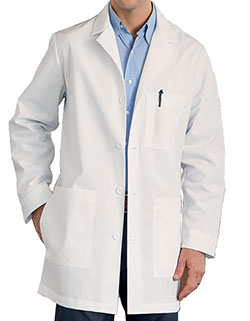 Meta 34 Inch Men's Long Three Pocket Medical Lab Coat