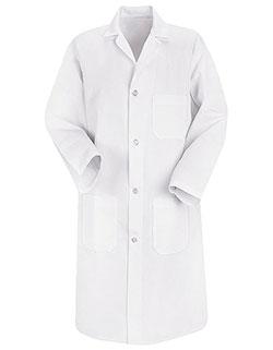 Red Kap 41.5 inch Three Pockets Men Long White Lab Coat