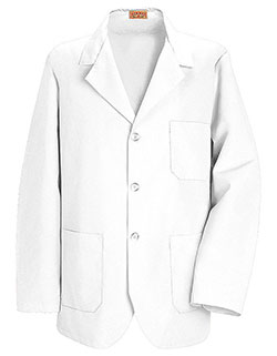 Red Kap 30 Inch Men's Three Pockets Button Front White Counter Coat