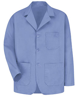 Red Kap 30 Inch Men's Three Button Front Lapel Light Blue Colored Counter Coat