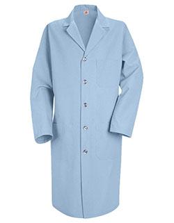 Red Kap 41.5 Inch Men's Three Pockets Light Blue Colored Lab Coat