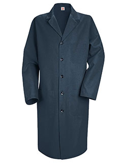 Red Kap 41.5 Inch Three Pockets Men Navy Colored Lab Coat