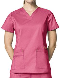 WonderWink 27.25 Inch Women's V-Neck Nursing Scrub Top