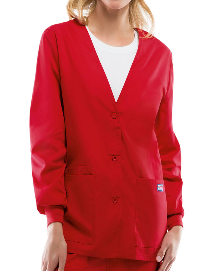 Cherokee 4301 Women S 29 Inch Three Pocket Cardigan Warm