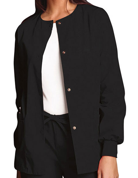 bd8a97af721 Cherokee Workwear 4350 Women's 27.5 Inch Snap Front Warm-Up Scrub Jacket