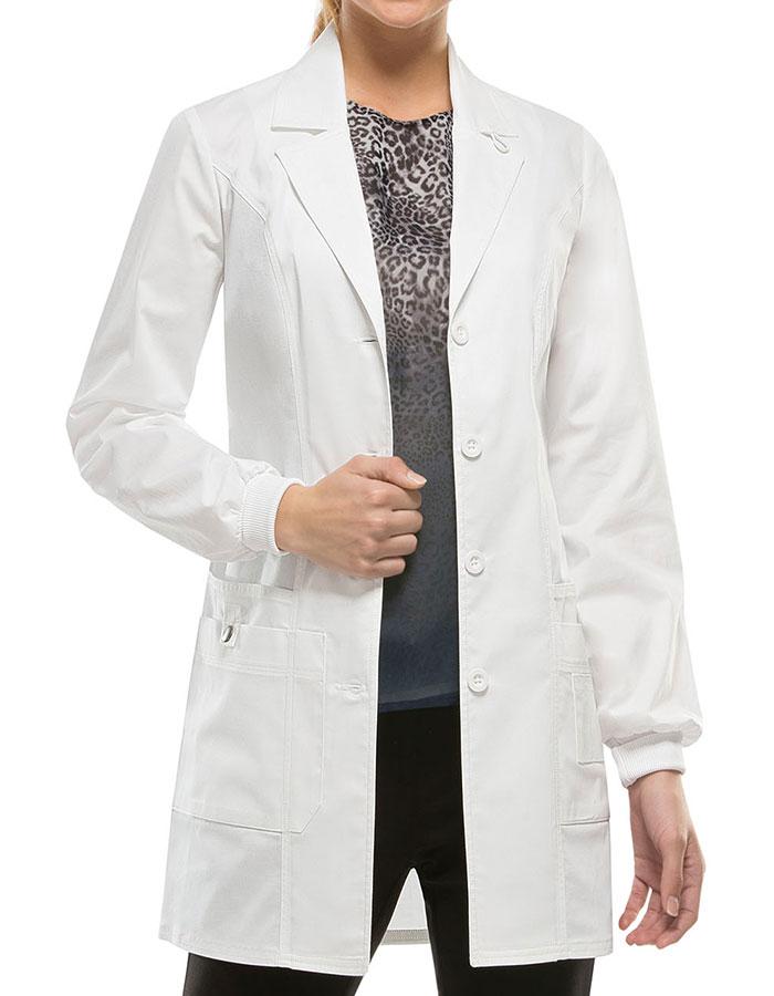 Dickies 85400 Genflex Women S 32 Inch Jr Fit Lab Coat