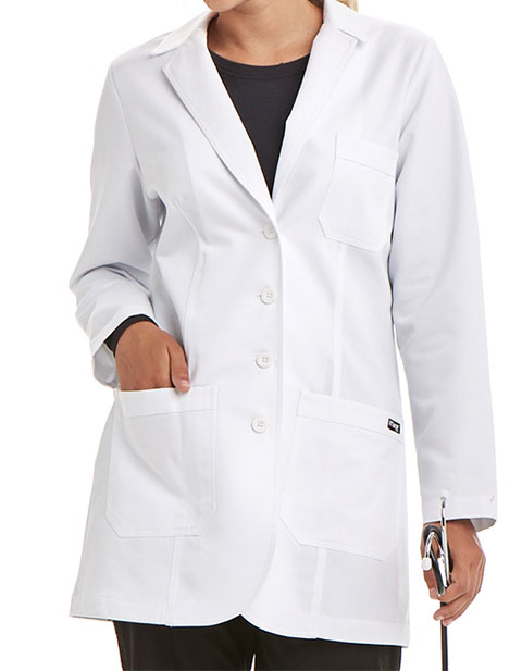 Grey\'s Anatomy Junior Fit 32 inch Lab Coat with Heartline Embroidery